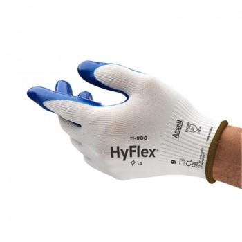 GUANTE ANSELL HYFLEX NBR 11900 BLANCO/AZUL